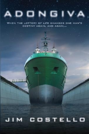 Cover of Jim Costello's new sci-fi novel, Adongiva